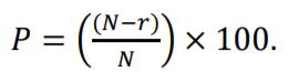 cat percentile formula
